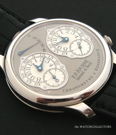 Chronomètre Double Résonance Platine 40 mm Lucky Number 8 Full Set  !