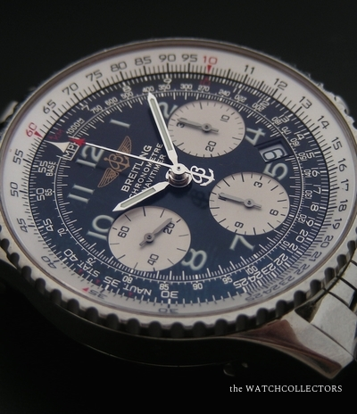 Very Nice Navitimer Chronograph Stainless Steel 40 mm Ref. A23322 Full Set !  A23322