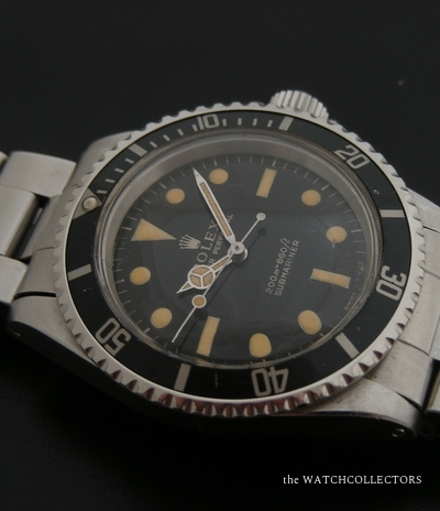 Vintage Gilt Meters First Submariner Ref.5513  Janvier 1966  5513