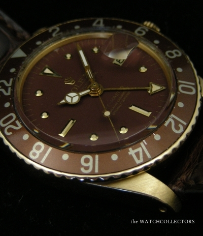 Rare Vintage GMT Master Or 18 k Ref.1675 Chocolate ! 1971  1675