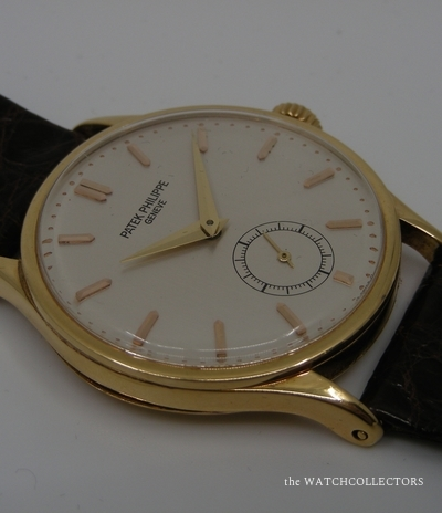 Rare Calatrava Vintage Yellow Gold Ref. 570 Extract of the archives ! 1942 570