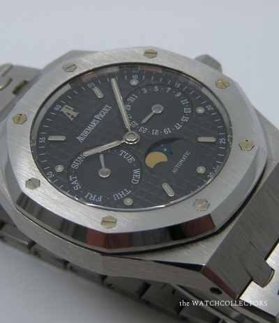 Rare Royal Oak Day-Date Moon Ref.25594ST.00.0789ST.03 Extrait Archives , état Exceptionnel !  Ref.25594ST.00.0789ST.03