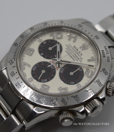 Daytona Cosmograph Stainless Steel With Rare Racing Dial Ref. 116520 Full Set + Black Dial !  116520