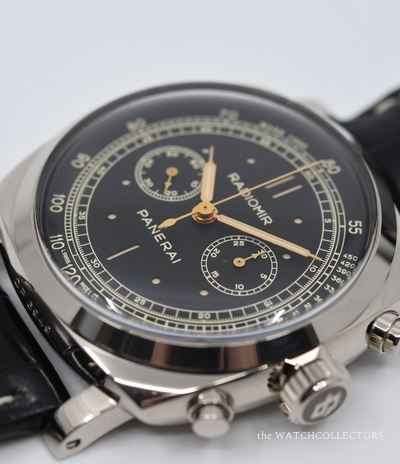 Very Rare Radiomir Chronographe 1940 Base Minerva PAM 520 Full Set ! xx/100 . PAM 520