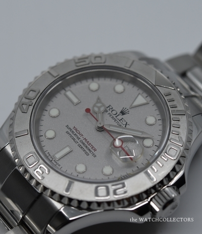 Out Of Production Silver Dial Yacht Master Jumbo Random Stainless Steel Platine Ref.16622 Original box and papers !  16622