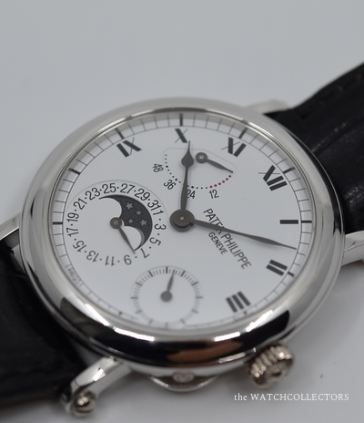 Very Rare Complicated Officer Watch Platinum Ref.5054P Extract of Archives 2000 & Full Patek Philippe Service 03/2019  !  5054 P