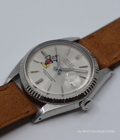 Oyster Perpetual Datejust Custom Mickey Ref.1601 Etat Exceptionnel ! 1973 1601