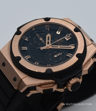 King Power Foudroyante King Gold 500 ex . Ref.715RX1128RX Full Révision Hublot 2019 !  715RX1128RX
