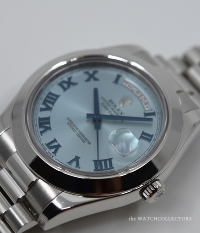 Hors Production Master Piece President Day-Date Ice Blue Ref.218206 Ecrin & Certificat d'origine !  218206