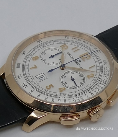 Rose gold chronograph Rose Gold Vintage GP 1966 Ref.49542 Original box and papers !  49542-52-151-BK6A